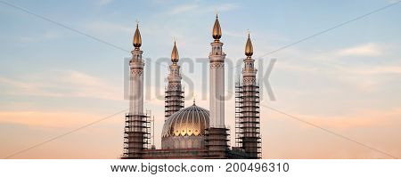 New Mosque In The Process Of Construction,