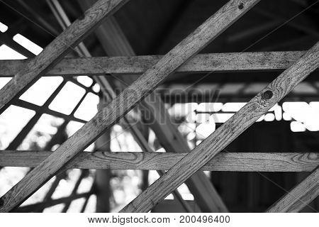 Diagonal black and white boards bokeh background hd