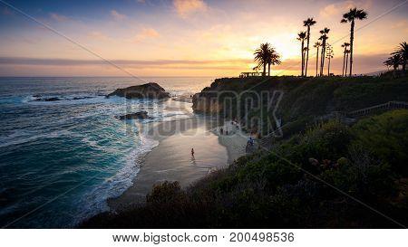 Sunset at Laguna Beach Orange County California