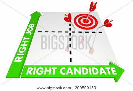 Right Job Candidate Best Choice Fit Matrix 3d Illustration