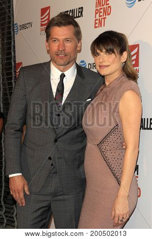 LOS ANGELES - AUG 15:  Nikolaj Coster-Waldau, Lake Bell at the