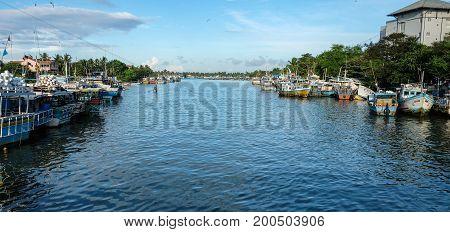 Fishing Boats At Main Pier In Colombo, Sri Lanka
