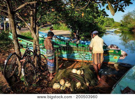 Fishing Village In Colombo, Sri Lanka