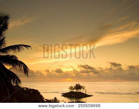 Unreal Backdrop Island View