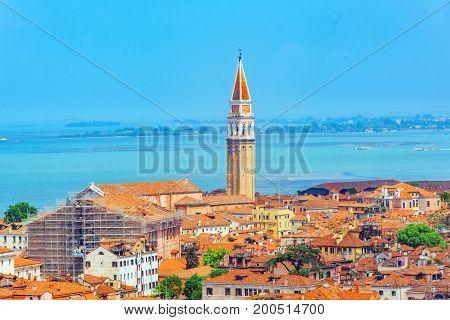 Bell Tower Of The Oratorio San Marco In Vinea And San Francesco Della Vina (chiesa Di San Francesco
