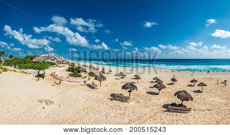Highly detailed image of Cancun beach Mexico