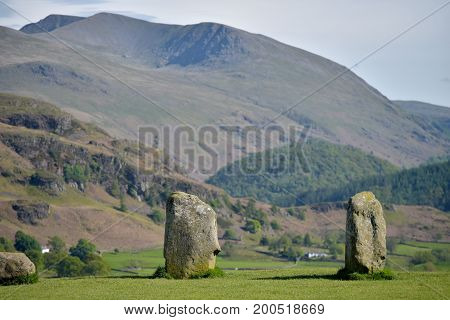 Castlerigg Stone Circle and Helvellyn, English Lake District