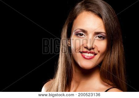 Young Beautiful Woman With Birthmark