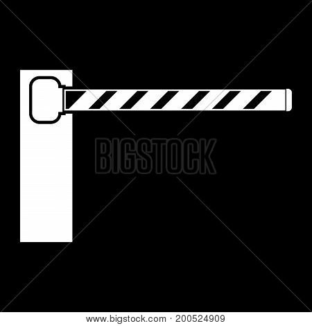 Barrier White Color Icon .