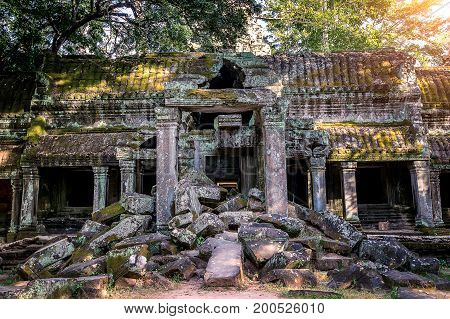 Angkor Wat Temple Siem reap in Cambodia.