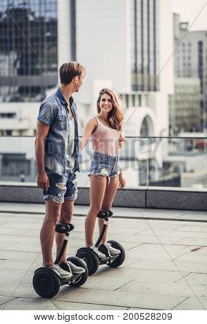 Teenage Couple Outdoors