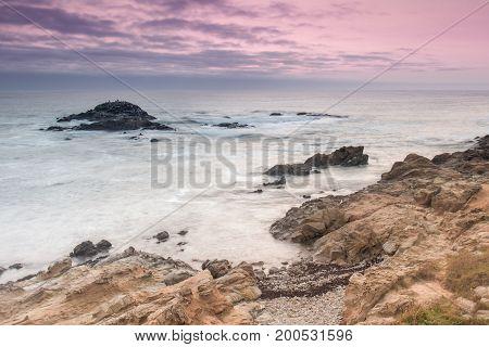 Bean Hollow State Beach Twilight. Pescadero, California, USA.