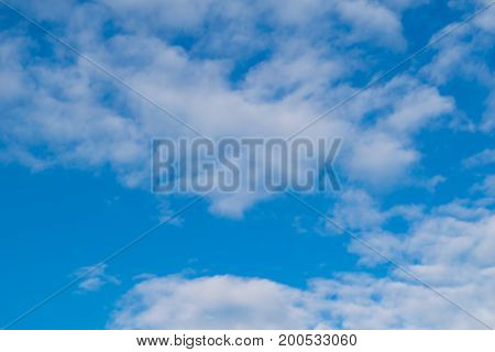 Background of blue sky and white clouds.
