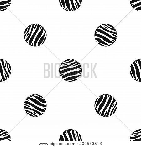 Big planet pattern repeat seamless in black color for any design. Vector geometric illustration
