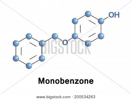 Monobenzone or benzyloxyphenol a monobenzyl ether of hydroquinone is an organic chemical in the phenol family. It is used as a topical drug for medical depigmentation