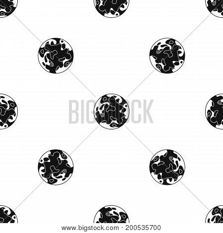 Small planet pattern repeat seamless in black color for any design. Vector geometric illustration