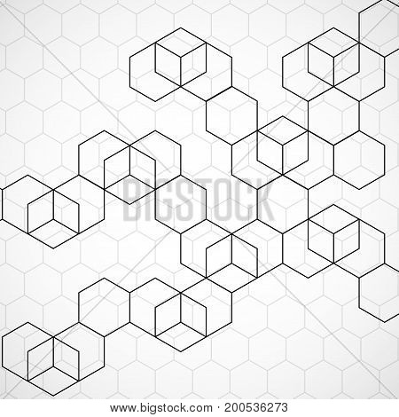 Abstract geometric background with cubes. Geometrical concept