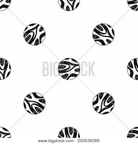 Striped planet pattern repeat seamless in black color for any design. Vector geometric illustration
