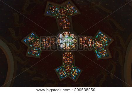 Jerusalem/israel - April 12, 2014: Inside Of Dome St. Peter In Gallicantu Monastery