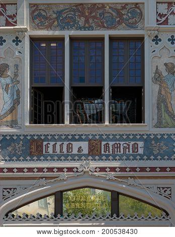 The Famous Lello And Irmao Bookshop In Porto, Portugal
