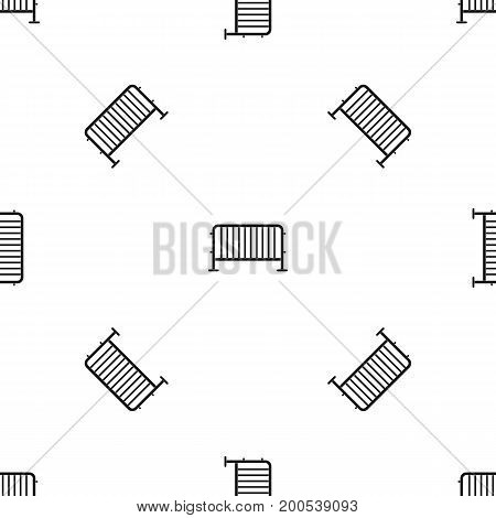 Steel barrier pattern repeat seamless in black color for any design. Vector geometric illustration