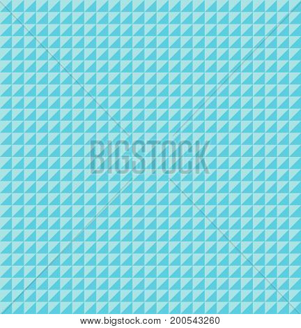 Abstract blue geometric triangle pattern texture. Vector background