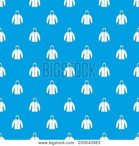 Sweatshirt pattern repeat seamless in blue color for any design. Vector geometric illustration