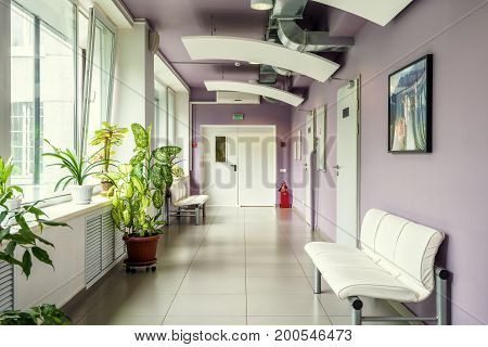 Moscow - July 25, 2017: A modern clinic interior