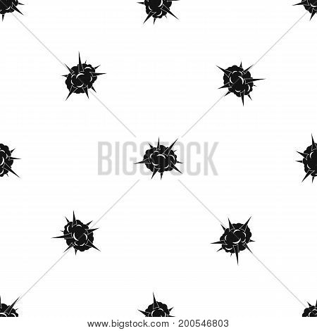 Power explosion pattern repeat seamless in black color for any design. Vector geometric illustration