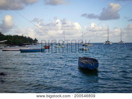 Seascape Of Mauritius Island