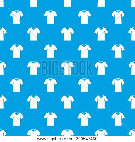 Tshirt pattern repeat seamless in blue color for any design. Vector geometric illustration