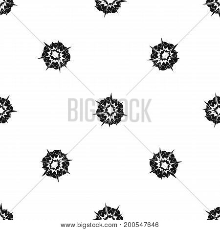 Fire explosion pattern repeat seamless in black color for any design. Vector geometric illustration