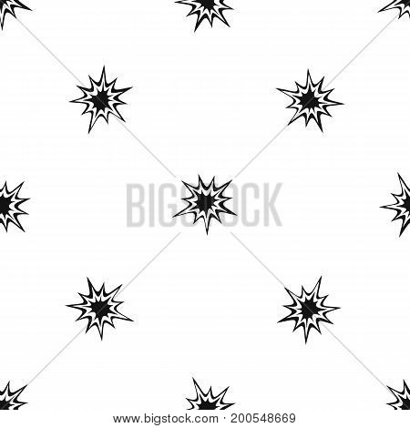Heavy explosion pattern repeat seamless in black color for any design. Vector geometric illustration