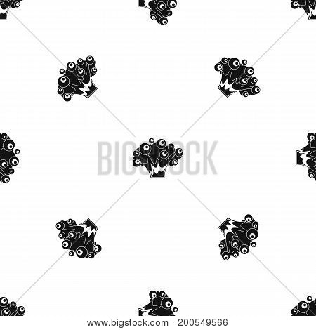 High power explosion pattern repeat seamless in black color for any design. Vector geometric illustration