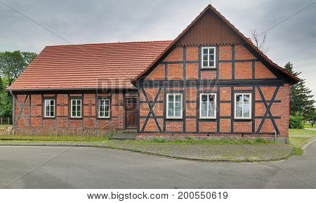 Former school listed as monument in Trantow Mecklenburg-Vorpommern Germany.