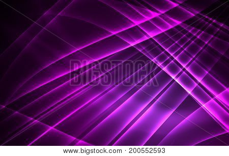 polar lights concept, glowig shapes in the dark, abstract background