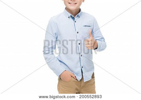 Kid Showing Thumb Up