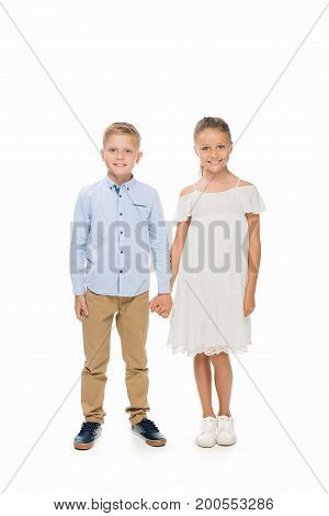 Little Couple Holding Hands