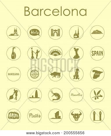 It is a set of Barcelona simple web icons