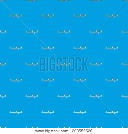 Timeline infographic pattern repeat seamless in blue color for any design. Vector geometric illustration