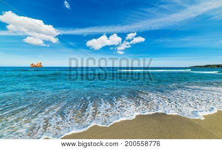Colorful shore in Cea beach. Sardinia Italy