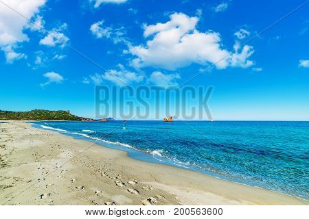 Cea beach in springtime in Sardinia Italy