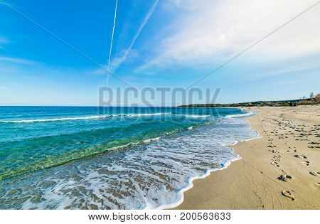 Cea beach on a sunny day. Sardinia Italy