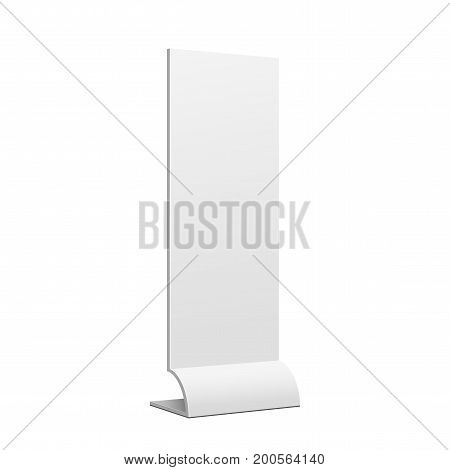 Advertising POS POI Retail Trade Stand stand banner on the white background. Mock Up Template. Vector illustration.