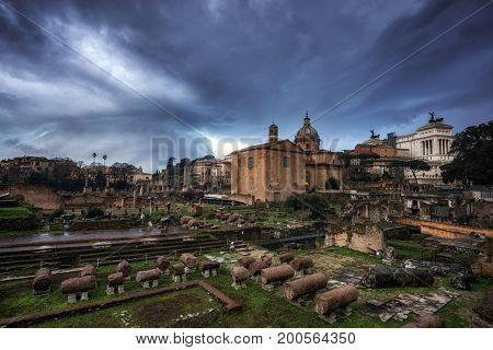 Stormy Sky Over Roman Forum