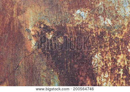 Old Grunge Corroded Rusted Metal Wall Texture