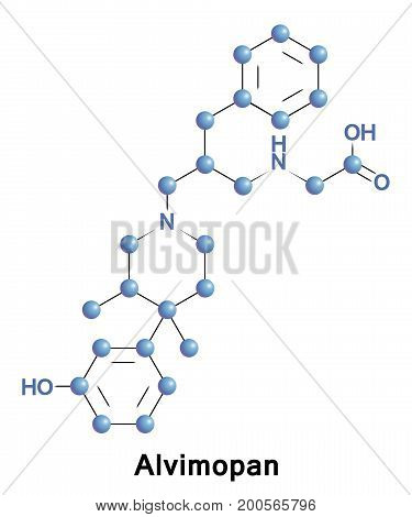 Alvimopan is a drug which behaves as a peripherally acting mu opioid antagonist