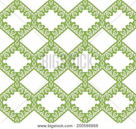 Greenery eco rhombus seamless pattern background illustration.