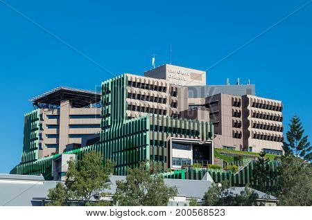 Brisbane Australia - July 9 2017: Lady Cilento Children's Hospital is a public paediatric hospital opened in 2014 at the cost of 1.2 billion dollars.