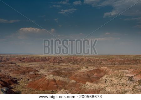 Painted Hills In Petrified Forest